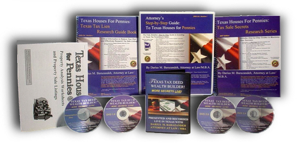 Texas Tax Sale Guide, Texas Tax Foreclosure Auctions,